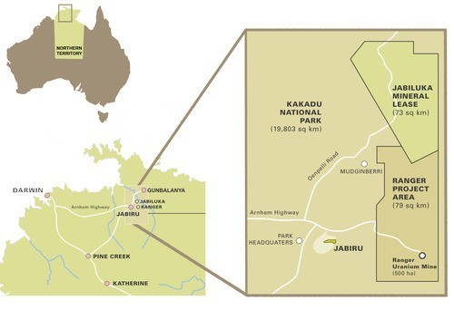 Map Of Australia Kakadu National Park.Uranium Mining The Gundjeihmi Aboriginal Corporation